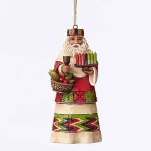 african santa ornament